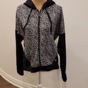 Betsey Johnson performance zip up hoodie